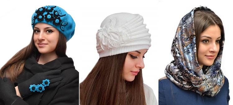 Шапочки фабрики Beнeц-7. Новая весенняя коллекция! Береты, платки, шапки, шляпки из текстиля, фетра, велюра, замши, кожи. Зимние шапки из натурального меха.