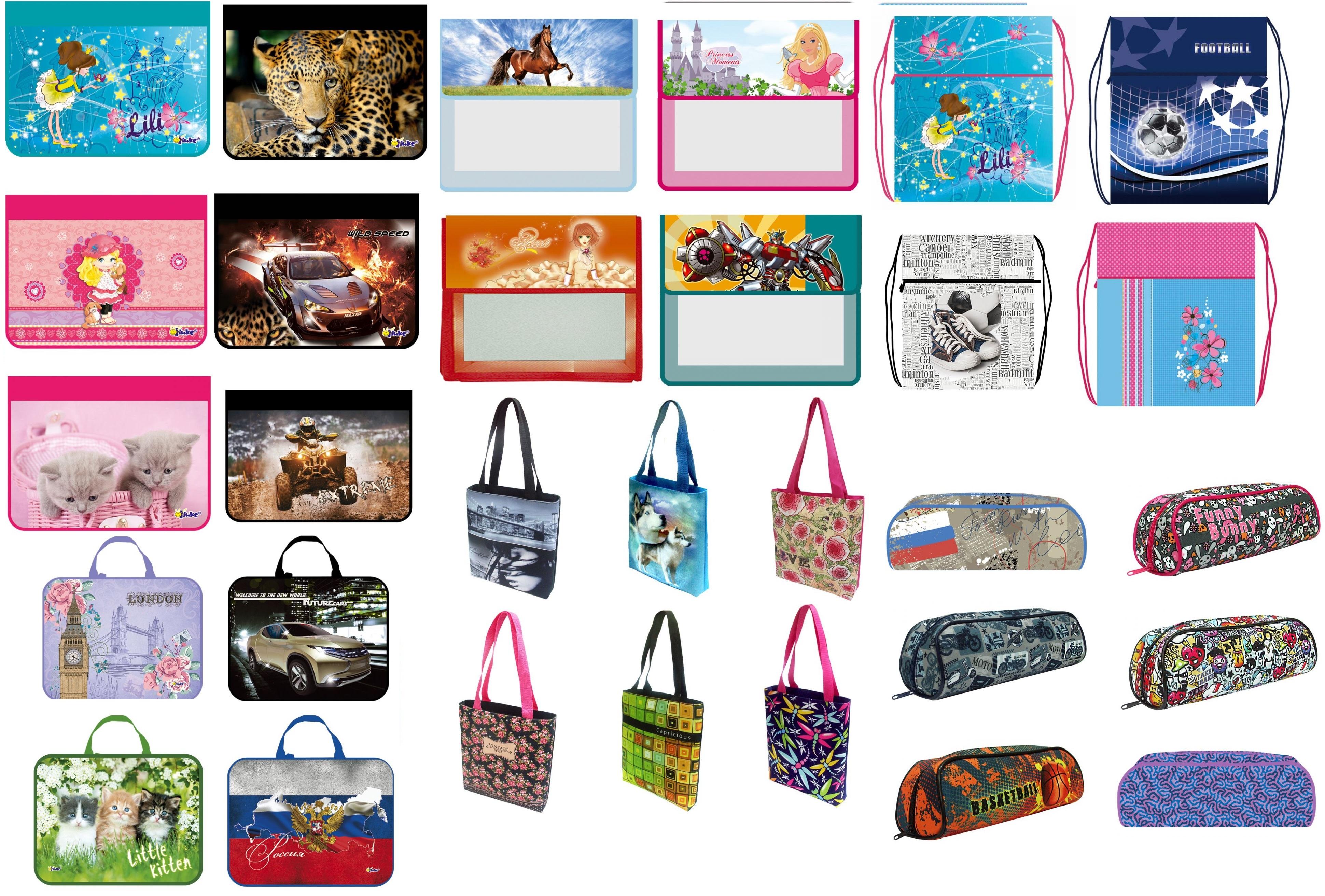 Пеналы, папки для тетрадей, мешки для обуви, сумки для внешкольных занятий. Папки для рисования формата А1, А2, А3.