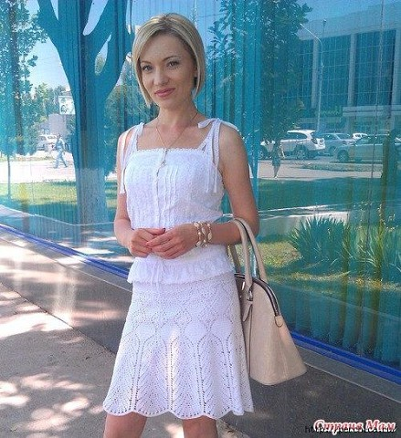Летняя юбка от Victorias Secret крючком со схемами