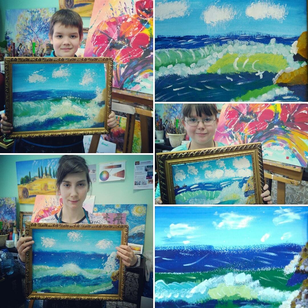 Вдохновляясь морем :)