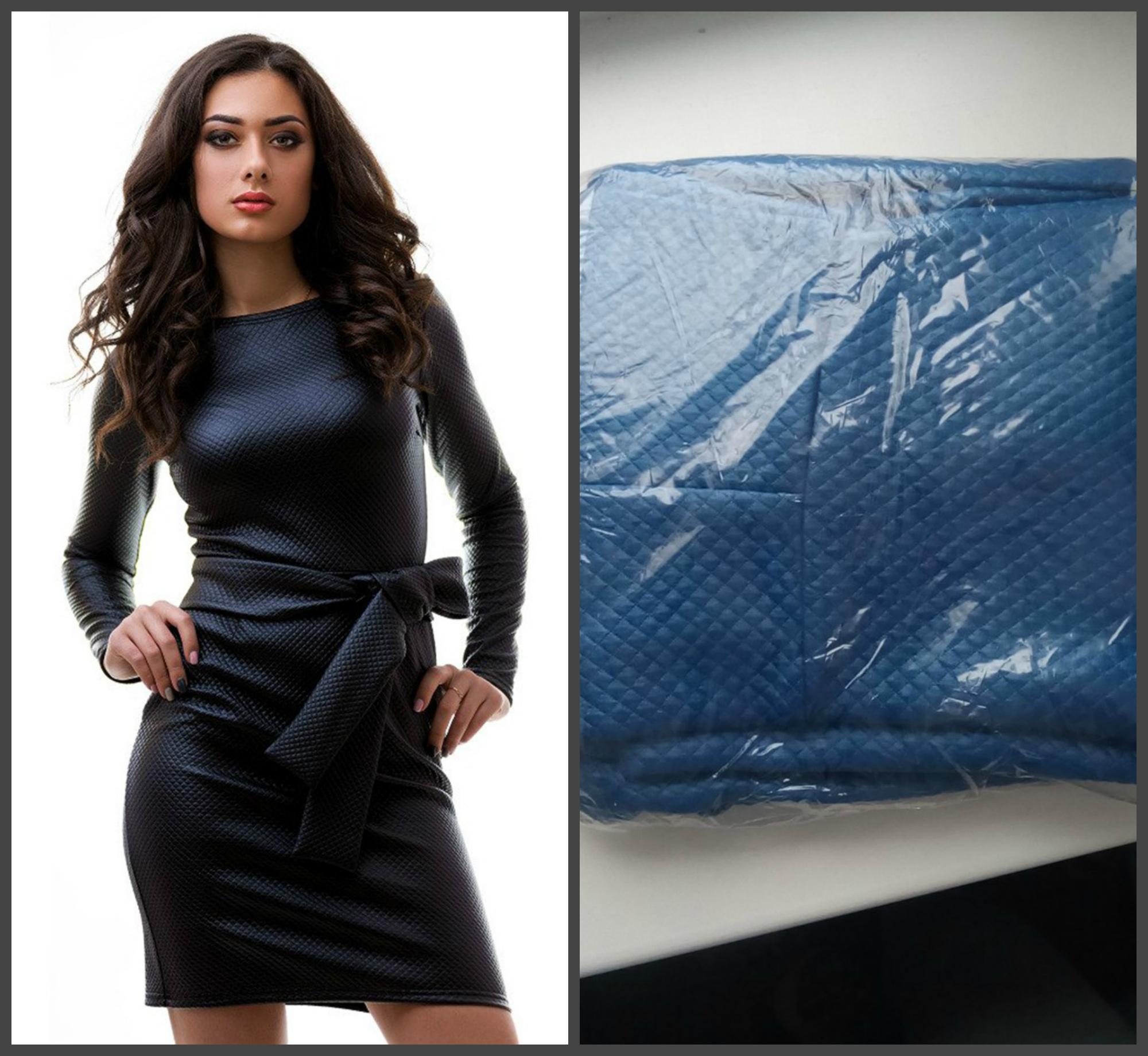 Платье синего цвета , эко-кожа, размер S, 1000 рублей