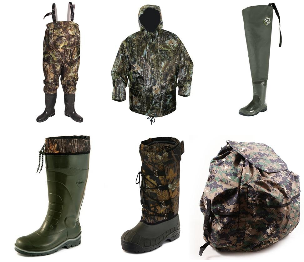 Охотникам и рыболовам - сапоги, полукомбинезоны, куртки, снаряжение. Рабочая обувь.