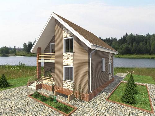 Проект дома из бруса Популярный