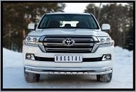 Защиты переднего и заднего бампера на Toyota Land Cruiser 200 2015-