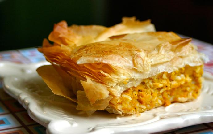 Зимняя выпечка: тыквенный греческий пирог