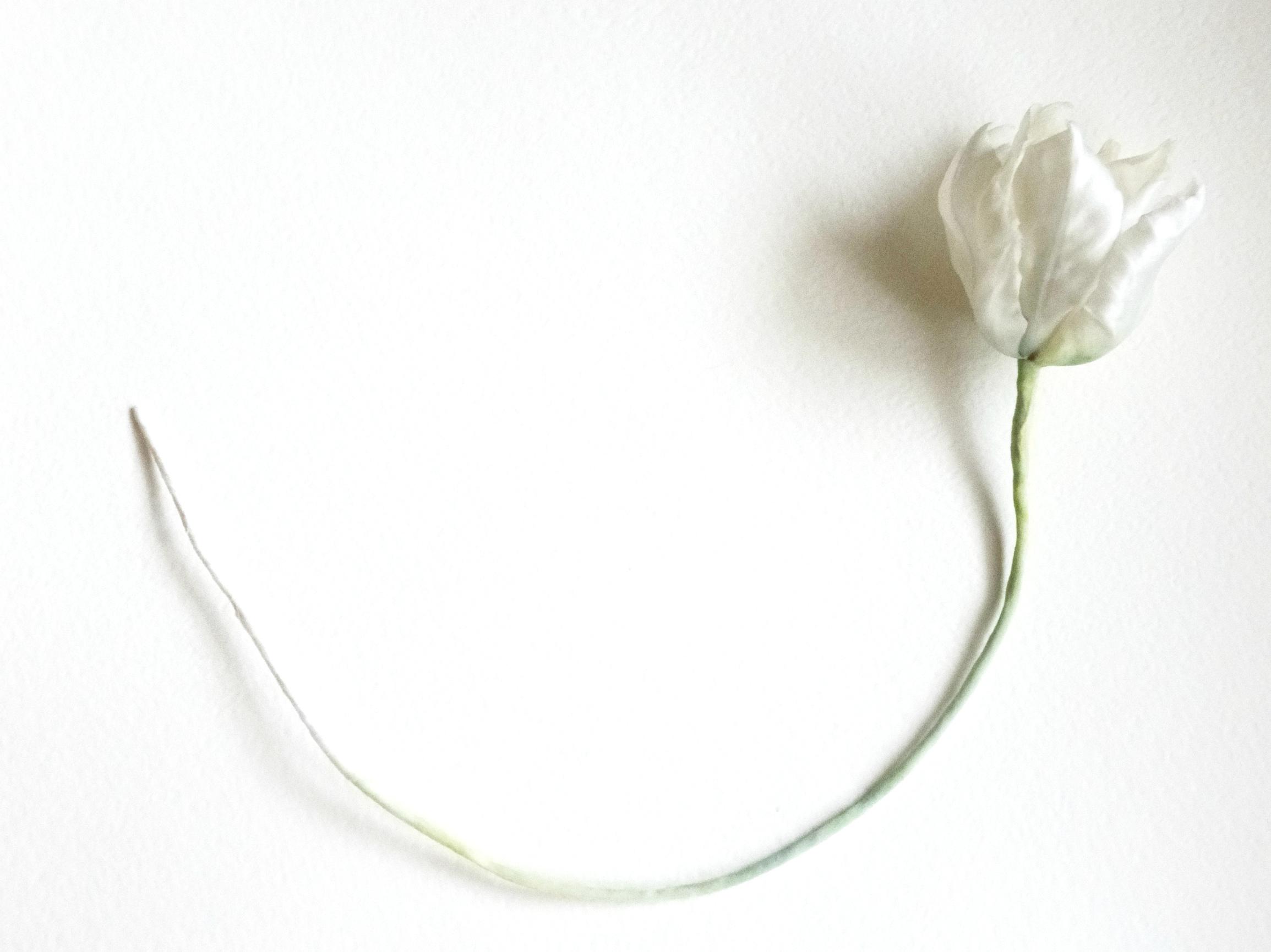 Тюльпан Весеннее утро Шелк Ручная работа