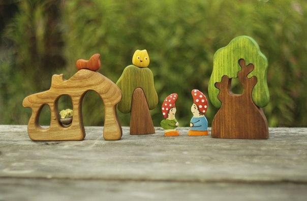 Прекрасная закупка деревянных игрушек