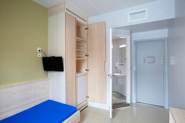 Тюремная камере в Хальдене, Норвегия. Жесточайшие условия