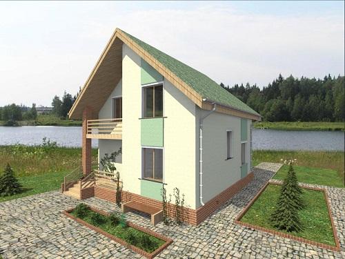 Проект дома Популярный из газосиликатных блоков