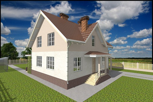 Проект дома Оптимальный из газобетона