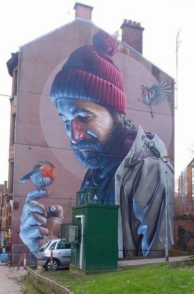 Граффити в Шотландии.