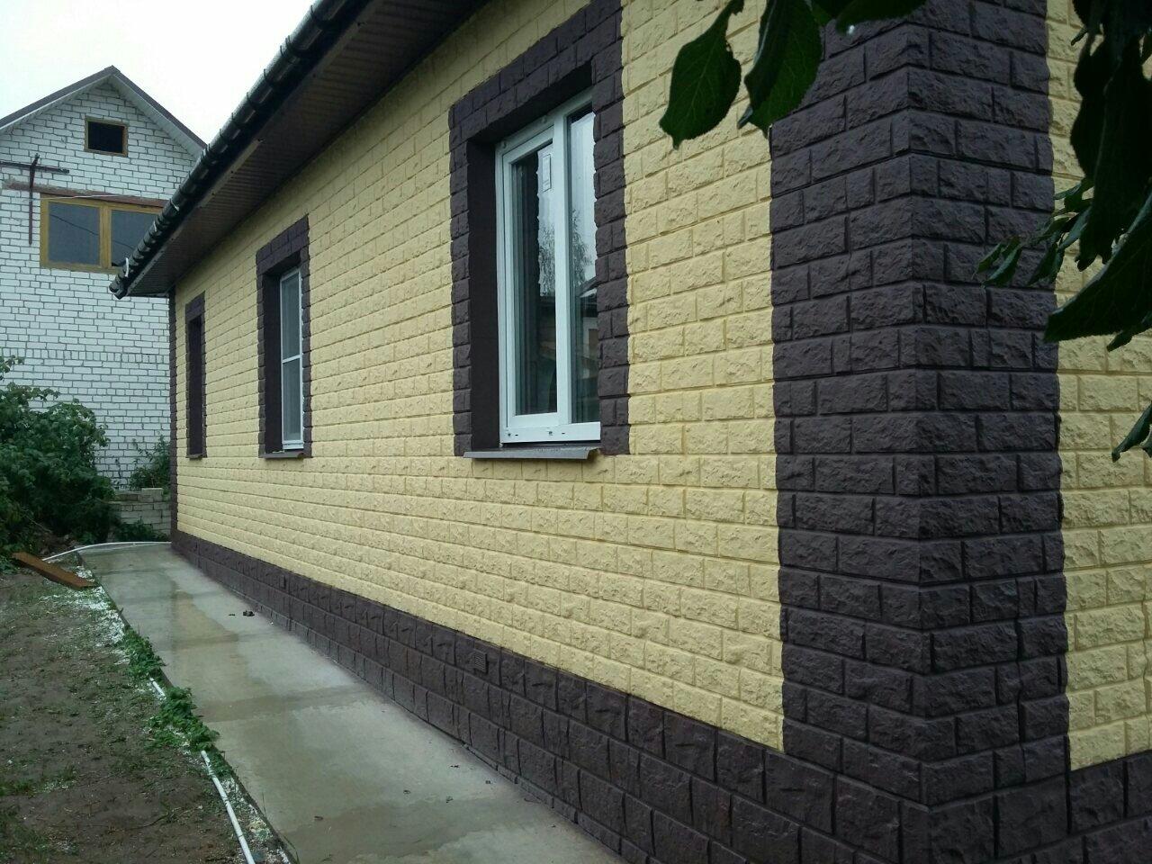 Фасад эконом . Полимерный фасад