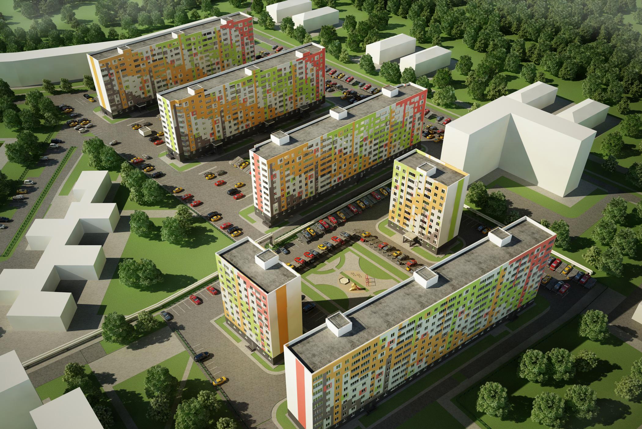 Новый микрорайон МК Мончегория, Автозаводский район, Н.Новгород