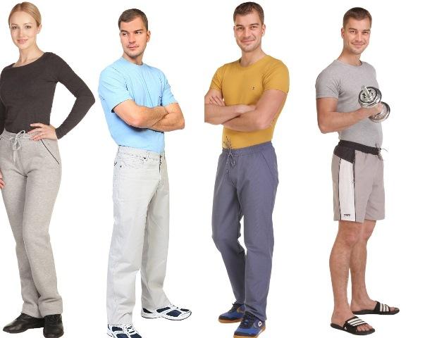 Одежда спортивного стиля для всей семьи. Толстовки, брюки, шорты.
