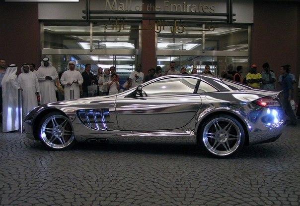Автомобиль созданный из белого золота для нефтяного миллиардера из города Абу-Даби, Mercedes V10 Quad Turbo, 1600 лошадиных сил. От 0 до 100 км/ч менее чем за 2 секунды