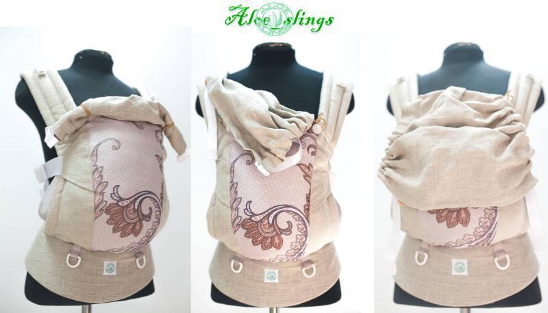 Сбор заказов. Слинг_ Эрго- рюкзак Aloe slings с бандажным комбинированным поясом.