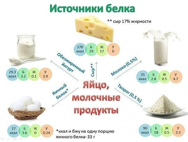 Удобные картинки калорийности основных продуктов питания
