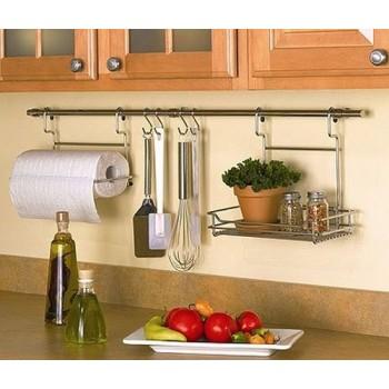 Самые низкие цены - 3!!! Рейлинги, барные ст0йки, сушки для посуды. Аксессуары для кухни. Мебельные крючки, петли, выкатные полки и полки для шкафов. Лучший бренд!!! Экспресс сбор!!!