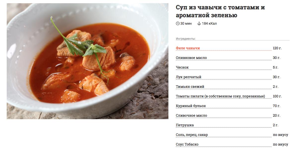 Вкусный рецепт от бренд-повара поставщика рыбы. Cуп из чавычи с томатами и ароматной зеленью