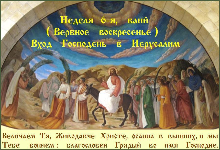 СВЕТЛОГО ВЕРБНОГО ВОСКРЕСЕНЬЯ ! ХРАНИ ВАС БОГ