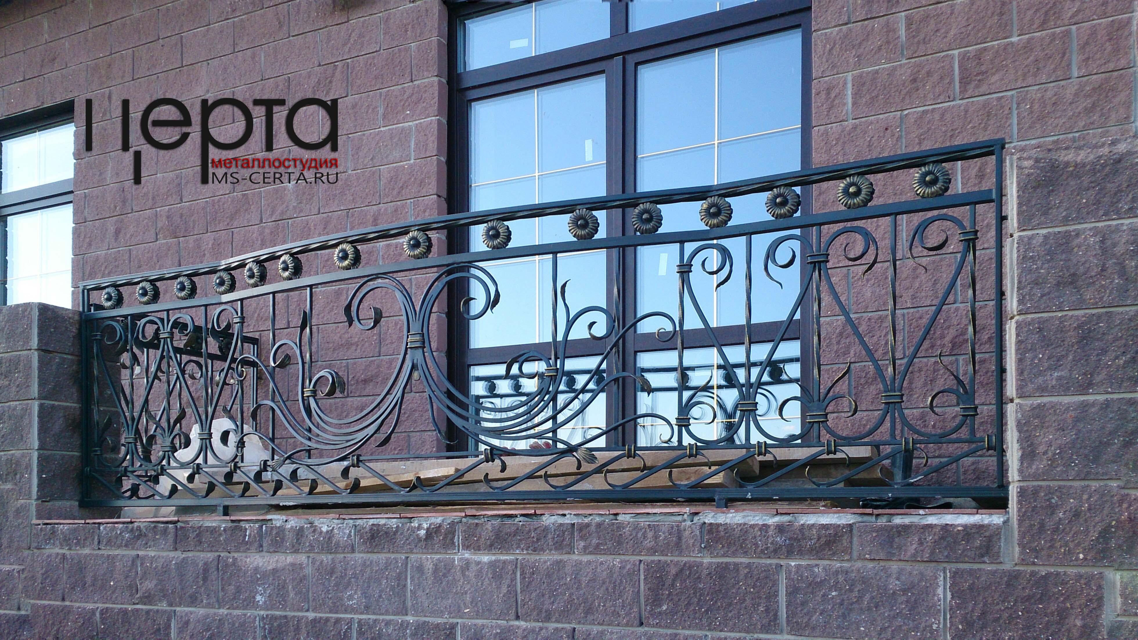 Кованый балкон, кованное балконное ограждение