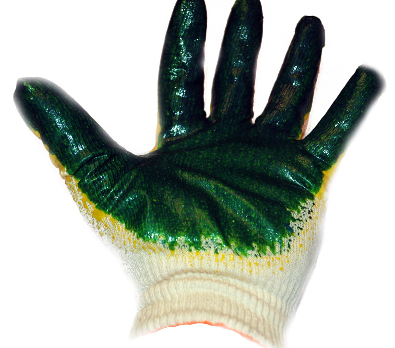 Сбор заказов Хозяйственные перчатки с ПВХ точкой, латексным одинарным и двойным обливом 4
