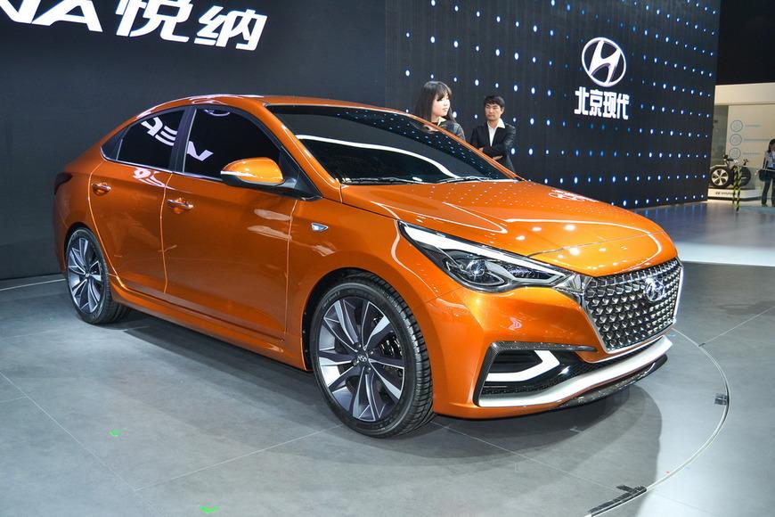 Hyundai показал в Пекине внешний облик прототипа нового седана Solaris.