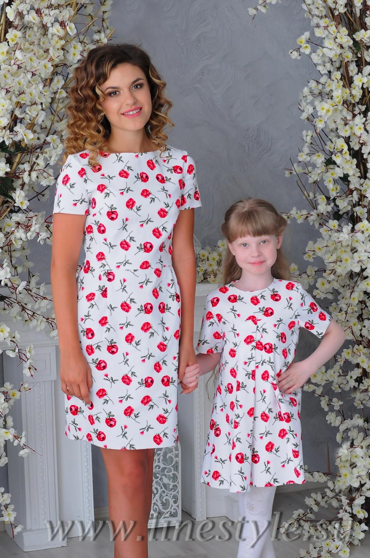 Cбор заказов. Платья, юбки, блузки для девочек и их мам в едином стиле family look, новая летняя коллекция,а какие цены...всем понравятся-1