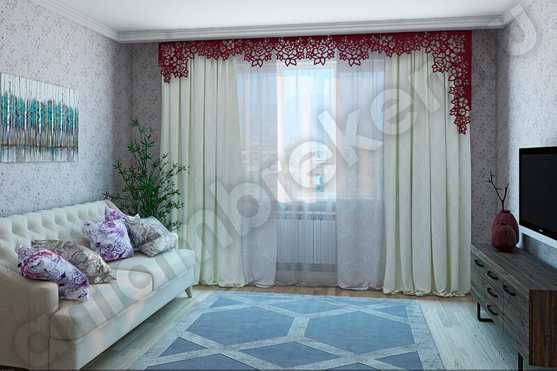 Сбор заказов. Фигурный ламбрекен с лазерной обработкой, декоративные карнизные планки для гостиной, спальни, кухни