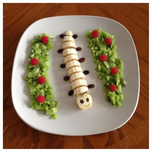 Как красиво украсить фруктовый десерт для детей. Фото.