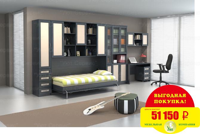 Сбор заказов. Мебельные гарнитуры для прихожей, гостиной, библиотеки, спальни и детской комнаты. Подъемные, откидные и складные кровати. Шкаф-кровать. Кровать-трансформер - 15