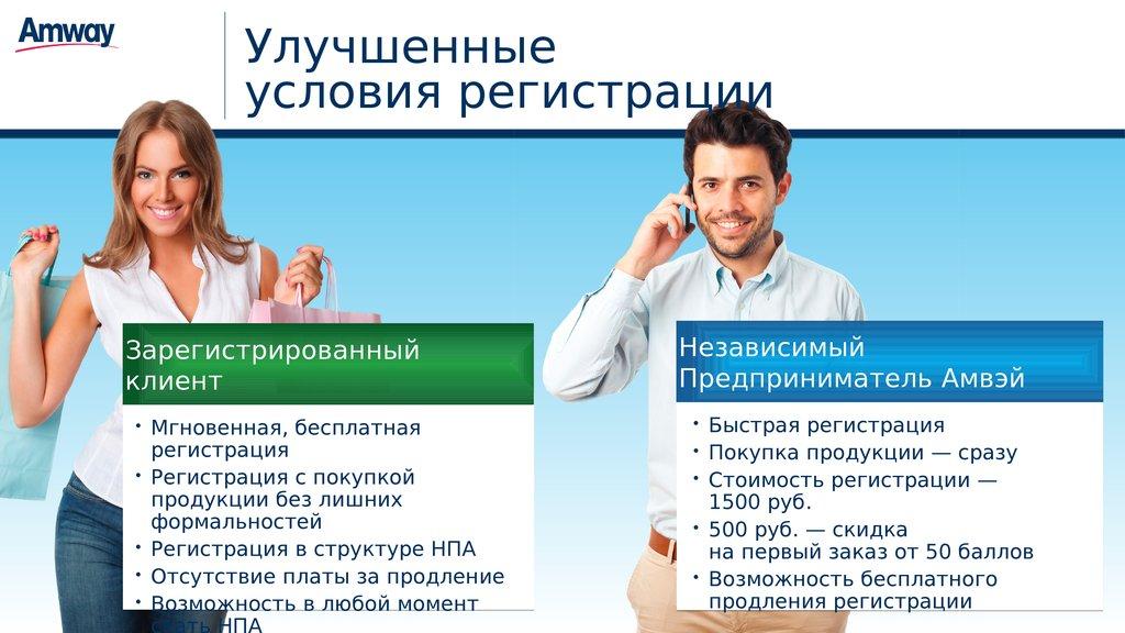НОВАЯ МОДЕЛЬ РЕГИСТРАЦИИ В AMWAY. Бесплатная регистрация покупателей