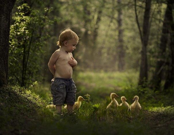 Городской ребенок в деревне