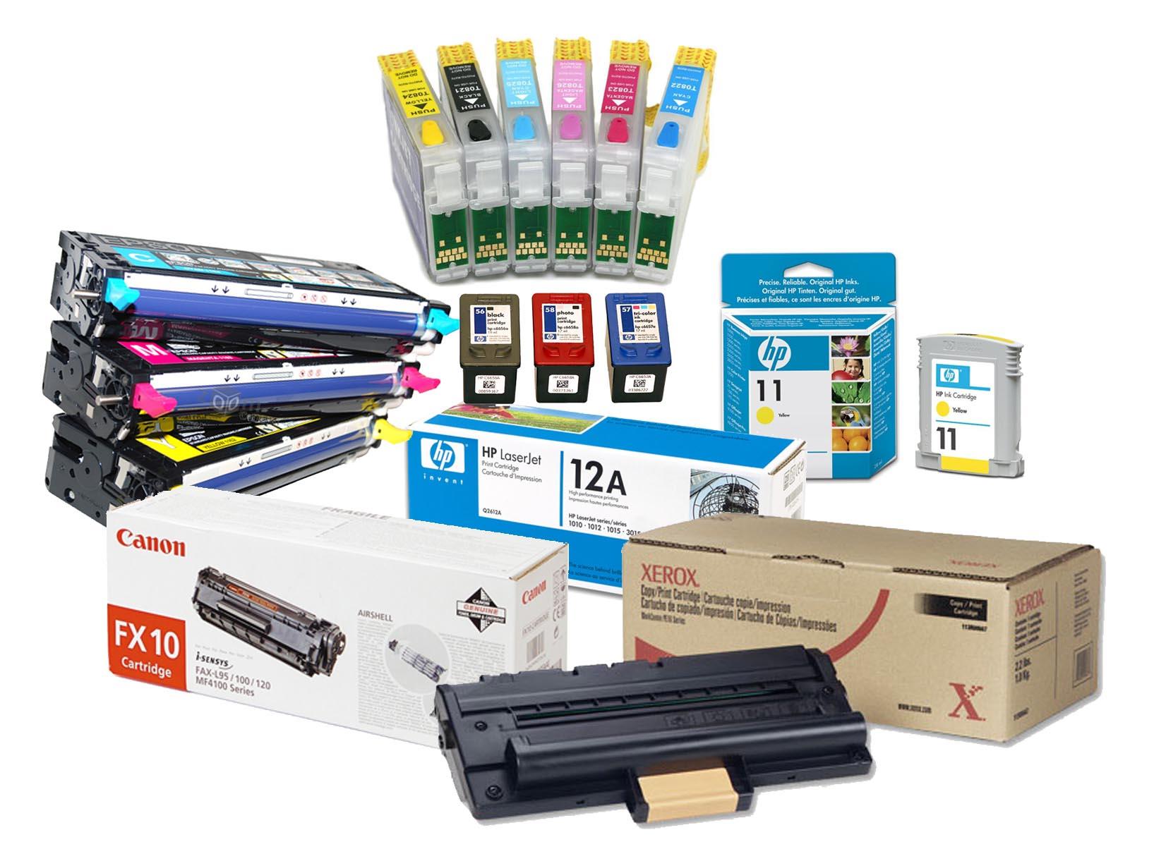 Сбор заказов. Расходные материалы для оргтехники-картриджи для принтеров оригинальные и совместимые, барабаны, чипы