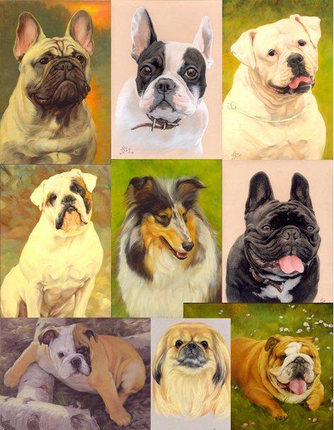 портреты Ваших кошек собак (любой стиль живописи)