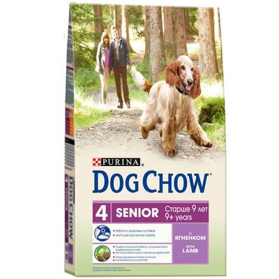 Dog Chow Senior сухой корм для стареющих собак старше 9 лет, ягненок 3 кило продам