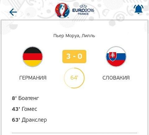 Германия бьет Словакию 3-0!