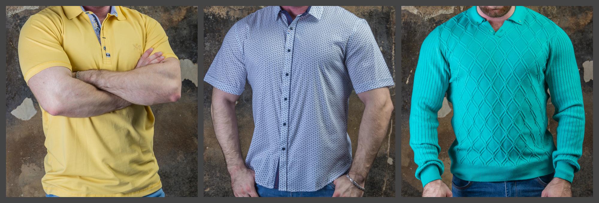 Огромный выбор мужской одежды больших размеров. Цены от 550 руб.