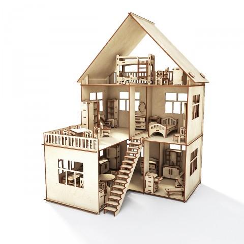 Пермская деревянная игрушка 4. Акция от производителя: Кукольные домики по себестоимости - 800 руб, наборы мебели - 120 руб!