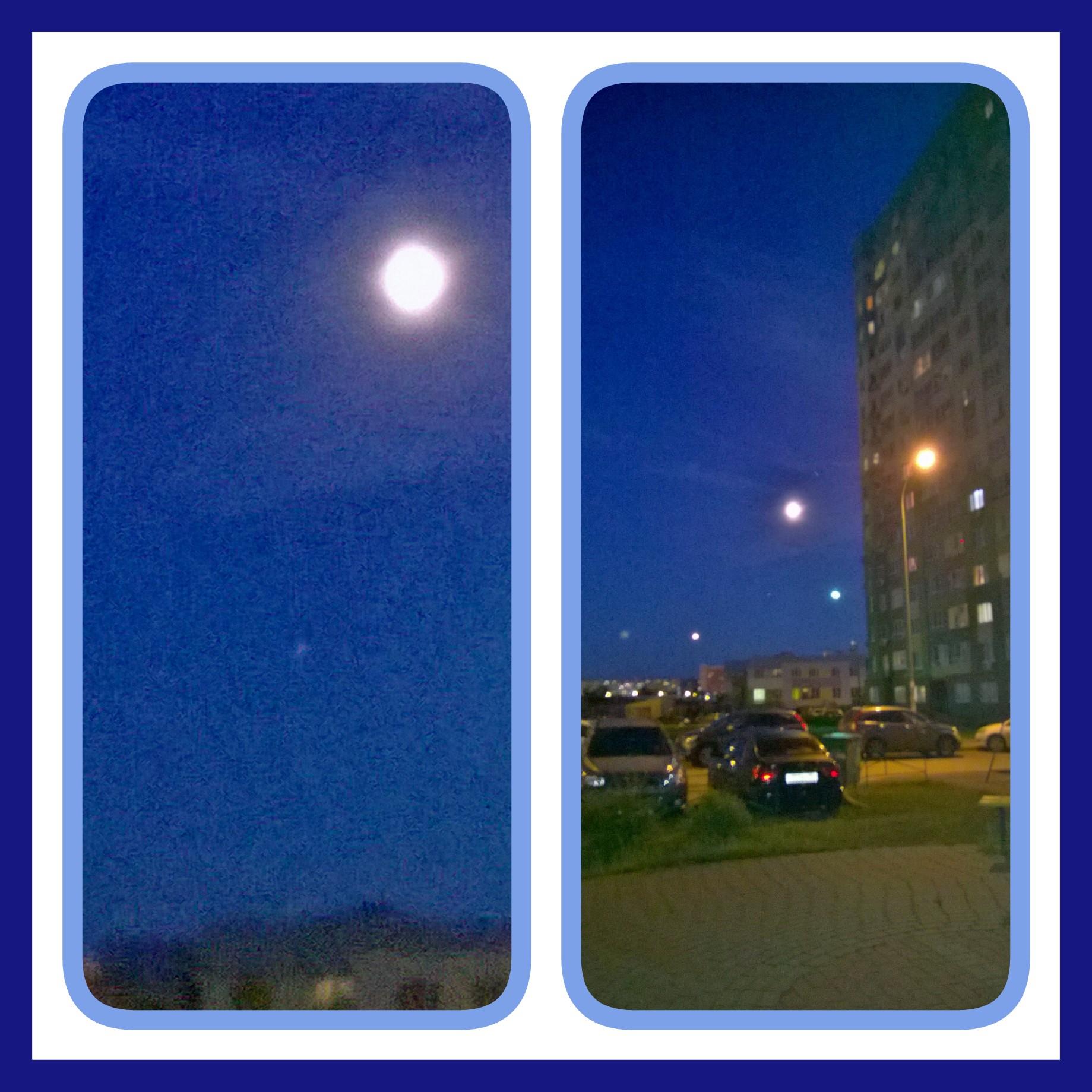 Луна и под луной Марс - Маленькая красная точка...