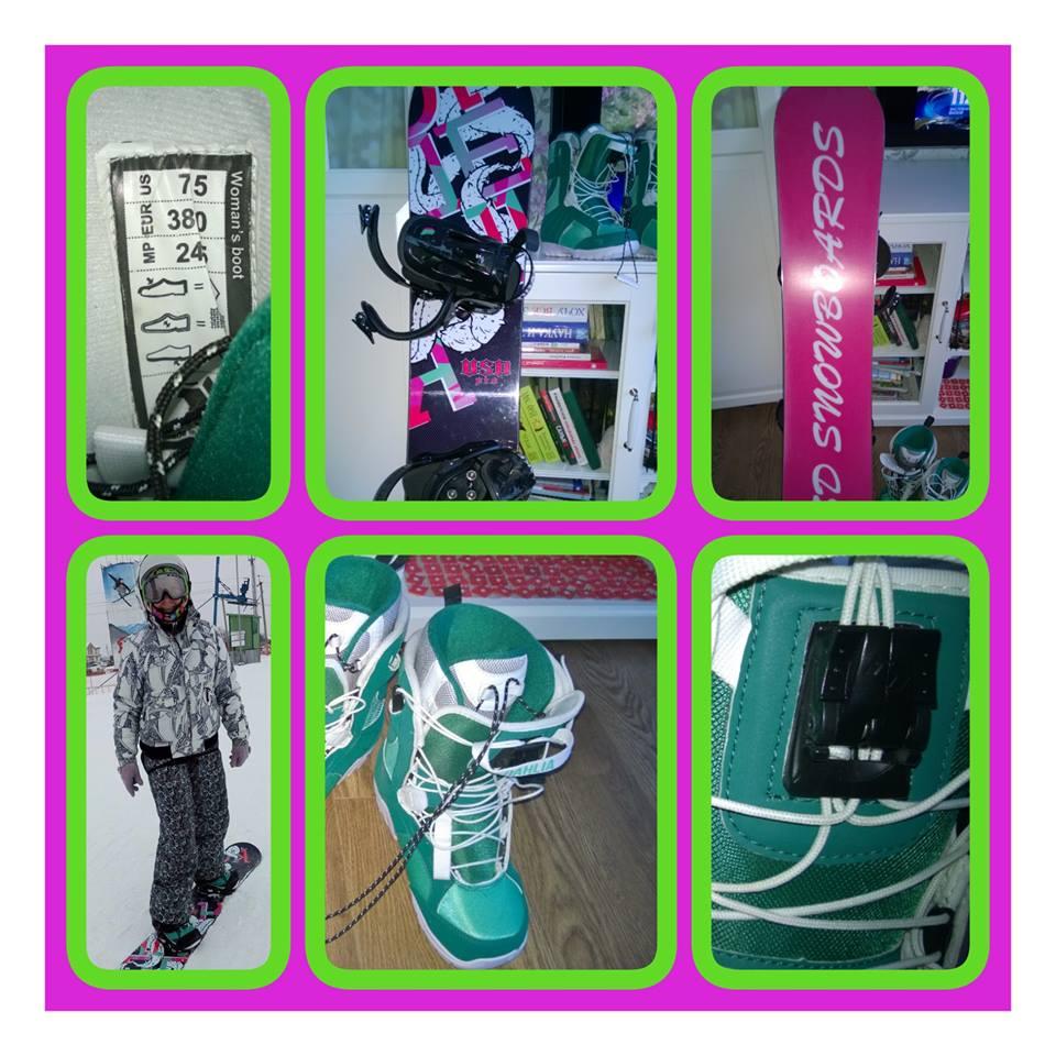 Сноуборд, крепления, ботинки - полный комплект...