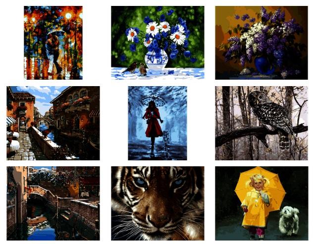 Картины-раскраски по номерам на холсте качество на высоте. Быстрая раздача, низкая цена - 8/16. Обновление ассортимента