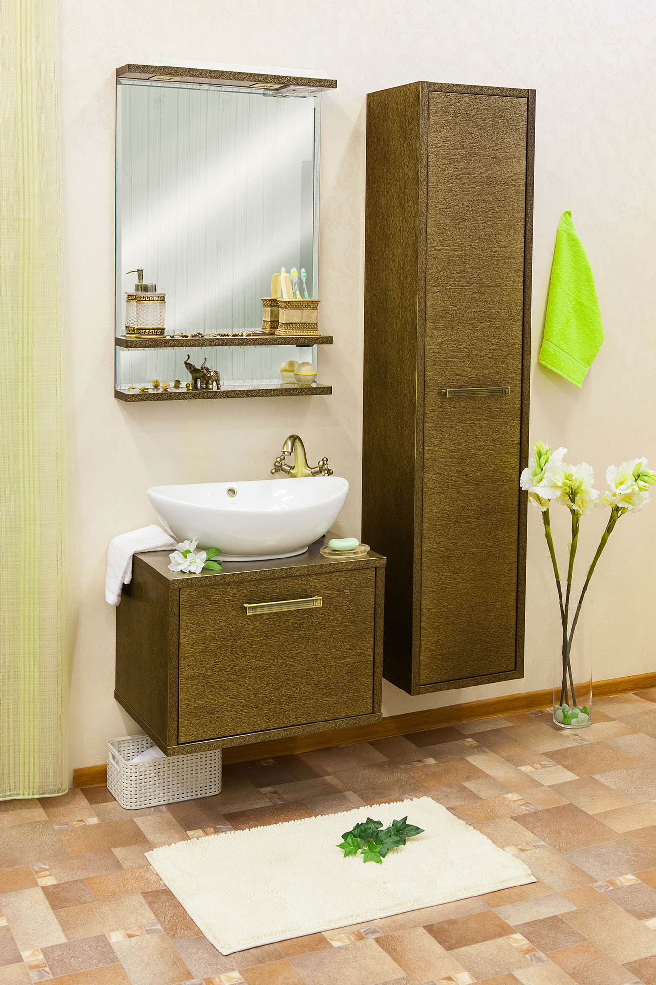 Сбор заказов. Для ванных комнат: тумбы, умывальники, пеналы, полупеналы, зеркала. 3D-фрезерование, патинирование, экологически чистые материалы. Мебель, которую выгодно покупать - 40