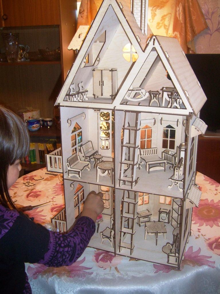 Cбор заказов. Не знаете,что подарить своей принцессе- тогда вам сюда: деревянный чудо-домик для кукол всего за 800руб,есть шесть комплектов мебели, российское производство-2, только положительные отзывы