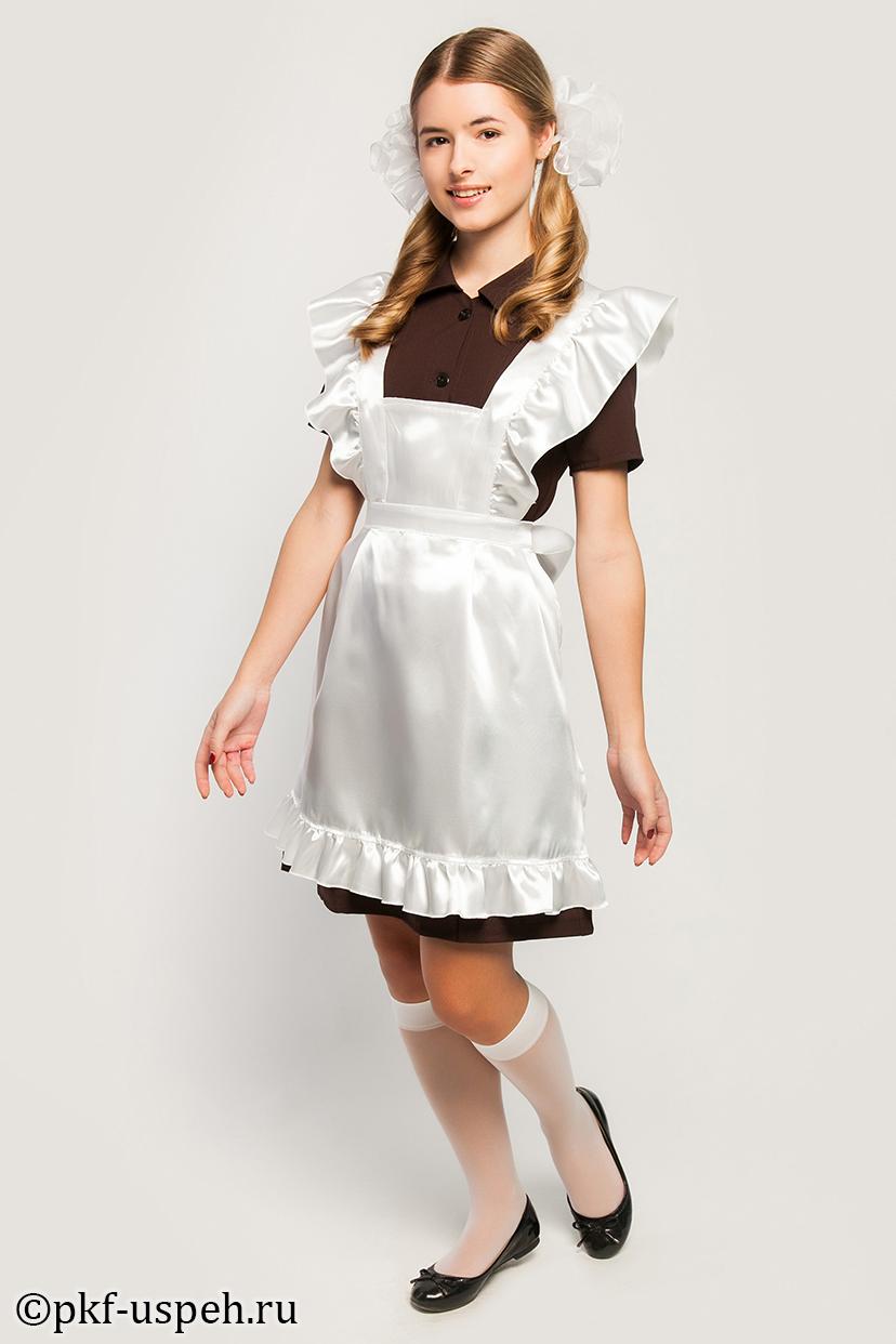 Школьная форма для девочек - платья, фартуки, банты, гольфы. Без рядов. Ах эта советская классика!