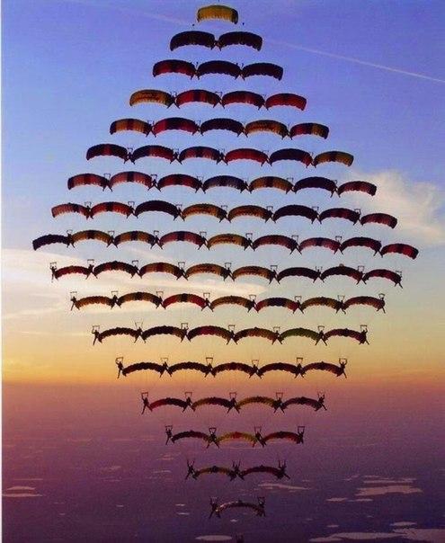 Самая сложная фигура парашютного спорта в мире