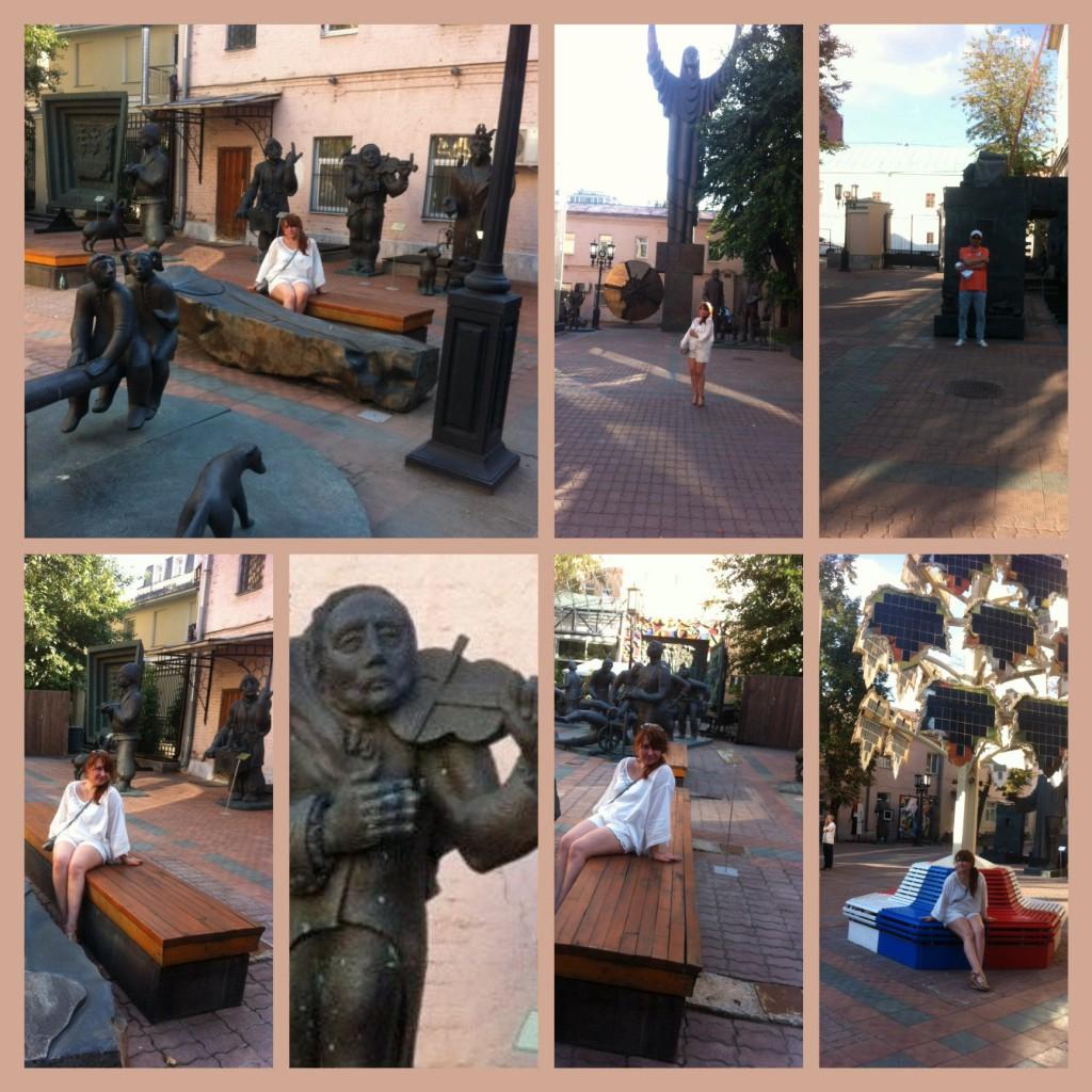 Маленький уголок скульптора Зураба Церетели. Единственное прохладное место в центре Москвы...
