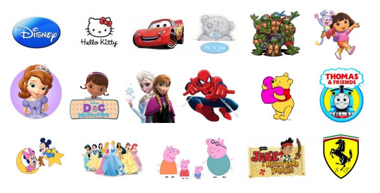 ���� �������. ������� ������ Disney, Hello Kitty, Ferrari, Cars, Me to You, Princess, Peppa, Dora �� 0 � ������. ���������� ����������! ����� 7/16