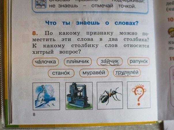 Идиотские учебники, от которых волосы дыбом.