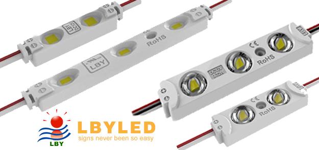 Светодиодные модули, ленты и блоки питания LBY LED